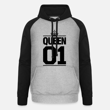 Couple D'amoureux Queen 01 - Sweat-shirt baseball unisexe