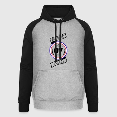 Fier d'être du 07 - Sweat-shirt baseball unisexe