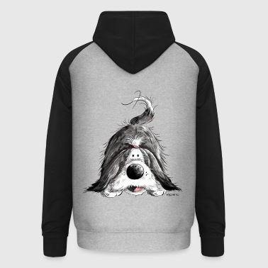 Funny Bearded Collie - Unisex Baseball Hoodie