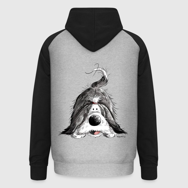 Bearded Collie - Sweat-shirt baseball unisexe
