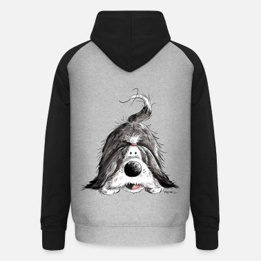 Bearded Collie Grappig Bearded Collie - Unisex baseball hoodie