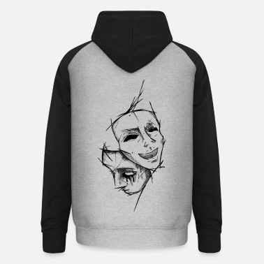 Depression Fake Smiles - Unisex Baseball Hoodie