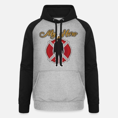 Rescue Hero firefighter fire firefighter vintage - Unisex Baseball Hoodie
