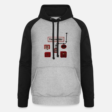 Alarm Fire alarms in different versions - Unisex Baseball Hoodie