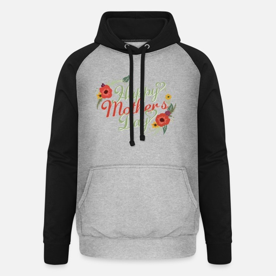 Mother Hoodies & Sweatshirts - 1 - Unisex Baseball Hoodie heather grey/black