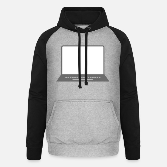 Play Hoodies & Sweatshirts - Laptop - Unisex Baseball Hoodie heather grey/black