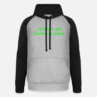 Start Am Start - Unisex Baseball Hoodie