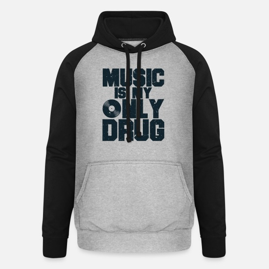 Gift Idea Hoodies & Sweatshirts - Gute Musik - Unisex Baseball Hoodie heather grey/black