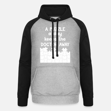 Puzzle Jigsaw Puzzle - Puzzlen - Puzzle - Geschenk - Unisex Baseball Hoodie