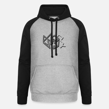 abstrakte graue Dekoration - Unisex Baseball Hoodie