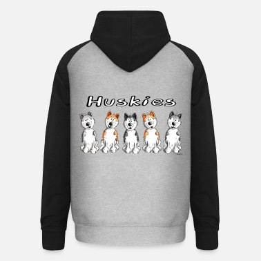 Husky Best Friends Huskies - Unisex Baseball Hoodie