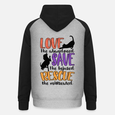 Animal Rescue Animal Rescue - Unisex Baseball Hoodie