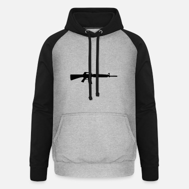 Weapon weapon - Unisex Baseball Hoodie