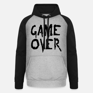 Game Over game over - Unisex Baseball Hoodie