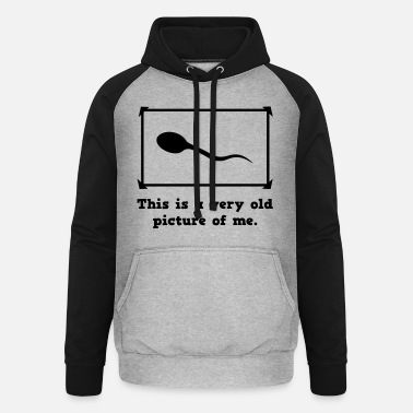 Picture old picture of me - Unisex baseball hoodie