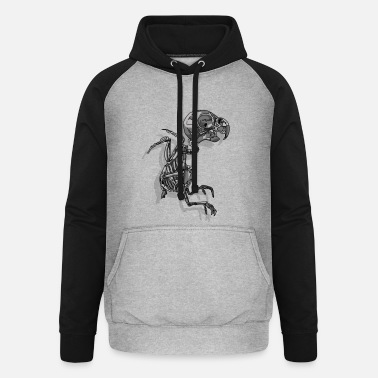 Black And White Collection sparrow - Unisex Baseball Hoodie