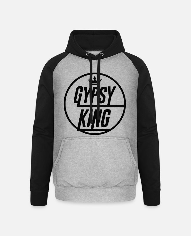 Detroit Love Lover Hoodies & Sweatshirts - Tyson Fury Gypsy King Shirt - Unisex Baseball Hoodie heather grey/black