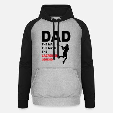 Bâton Lacrosse Player Dad Fathers Day Gift - Passe-temps drôle - Sweat à capuche baseball unisexe