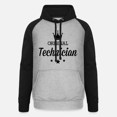 Schublehre Original three star deluxe technician - Unisex Baseball Hoodie