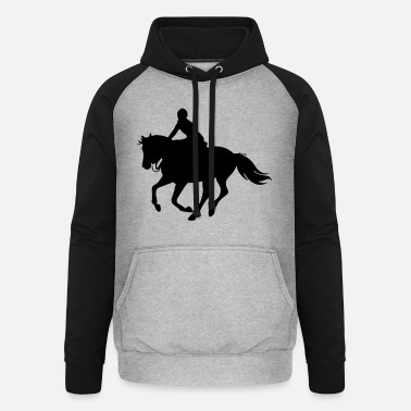 Horses, horse, riding,pony, cowboy, trot, Gallop - Unisex Baseball Hoodie
