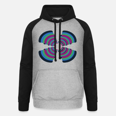 Black borderlines - Unisex Baseball Hoodie