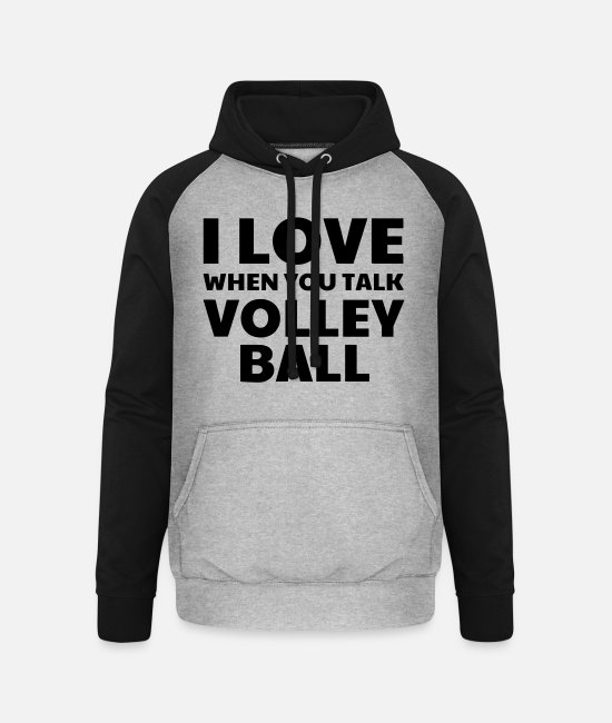 Play Hoodies & Sweatshirts - Volleyball - Volley Ball - Volley-Ball - Sport - Unisex Baseball Hoodie heather grey/black