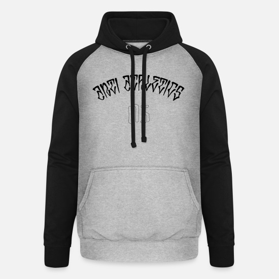 Rap Pullover & Hoodies - anti athletics - Unisex Baseball Hoodie Grau meliert/Schwarz