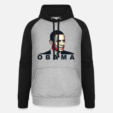 Obama obama - Sweat à capuche baseball unisexe