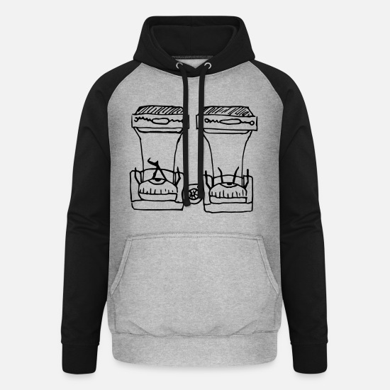 Tv Hoodies & Sweatshirts - Seeing Double - Unisex Baseball Hoodie heather grey/black