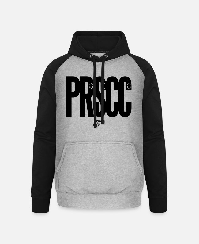 Prosecco Pullover & Hoodies - Prosecco - Unisex Baseball Hoodie Grau meliert/Schwarz