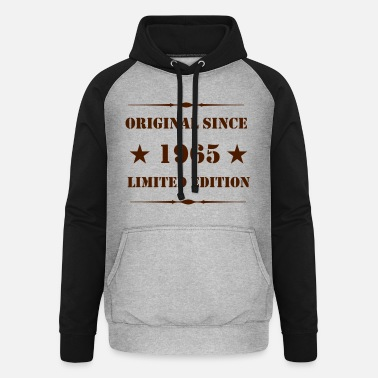 Original since 1965 - Limited Edition - - Unisex Baseball Hoodie