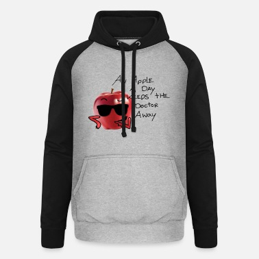 Sultry an apple a day keeps the doctor away - Unisex Baseball Hoodie
