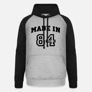 Beautees mp_madein84a - Unisex Baseball Hoodie