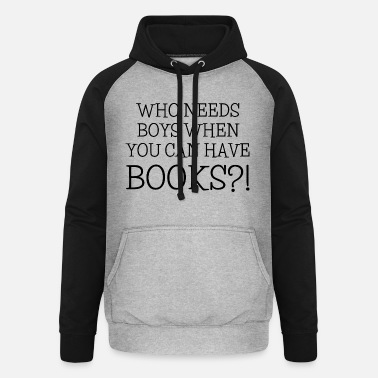 Book Book books reading bookworm - Unisex Baseball Hoodie