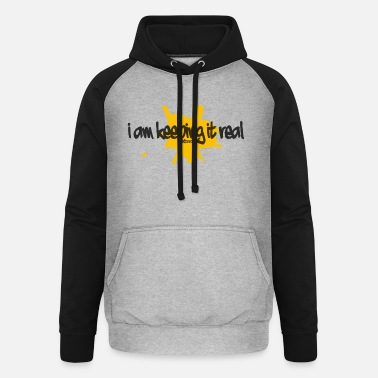 MITTOMstreets - i am keeping it real - black - Unisex Baseball Hoodie