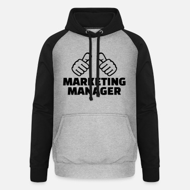 Marketing Manager Marketing manager - Unisex baseball hoodie