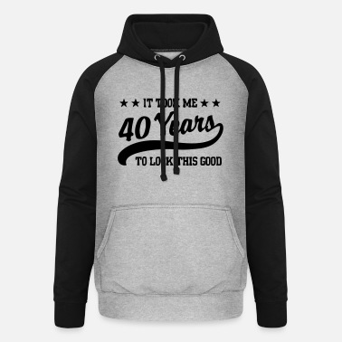 To 40years - Unisex baseball hettegenser