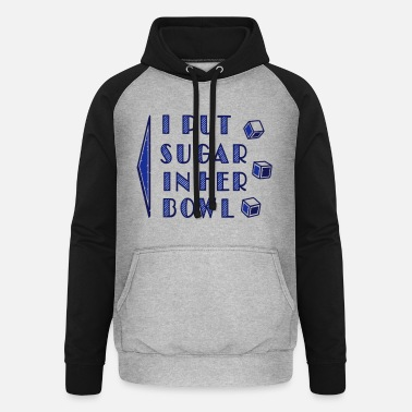 Text sugar in bowl - for men - Unisex Baseball Hoodie