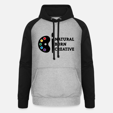 Director Natural Born Creative (PNG) - Unisex Baseball Hoodie