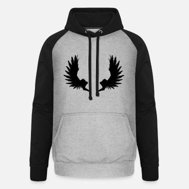 Garden Underwear Back Wings - Unisex Baseball Hoodie