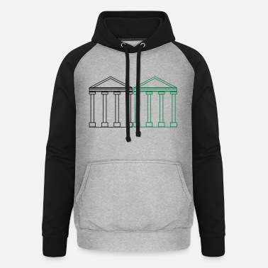 Greece greek_buildings_2 - Unisex Baseball Hoodie