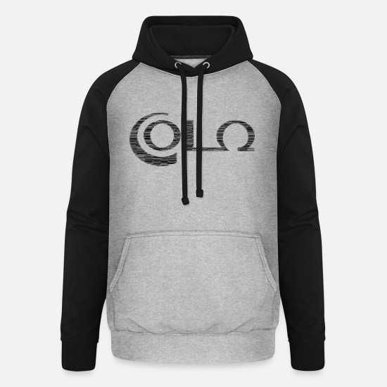 Typography Hoodies & Sweatshirts - Cola - pixel graphic - Unisex Baseball Hoodie heather grey/black
