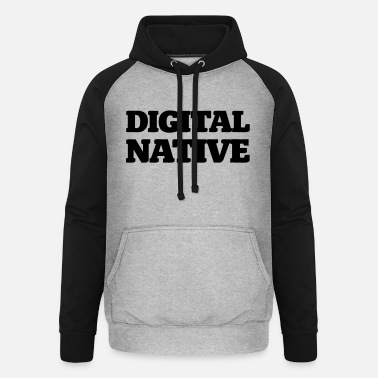 Digitale Tidsalder Digital Native - Unisex baseball hættetrøje