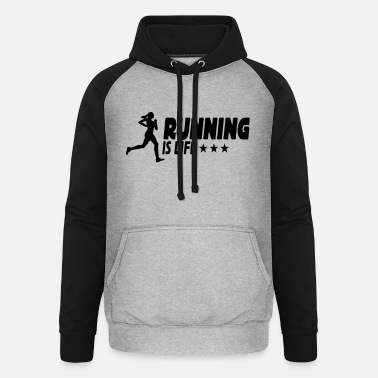 Run Run Run running is life female ii 1c - Sweat à capuche baseball unisexe