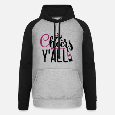 Rose Gift for wine lovers from Cheer's Y'all - Unisex Baseball Hoodie