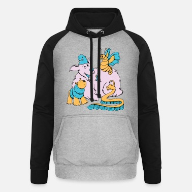 Funny Animals Funny Animals - Unisex Baseball Hoodie