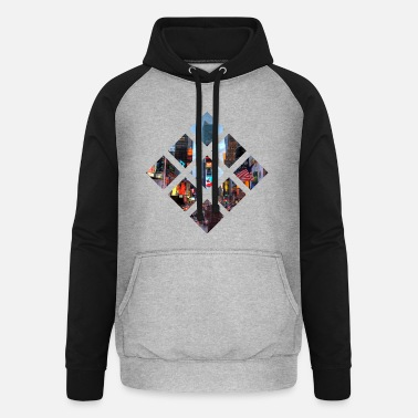New York City - City Skyline - USA - Unisex Baseball Hoodie
