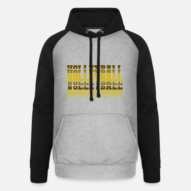 Beach Volleyball Volleyball superhero gift - Unisex Baseball Hoodie