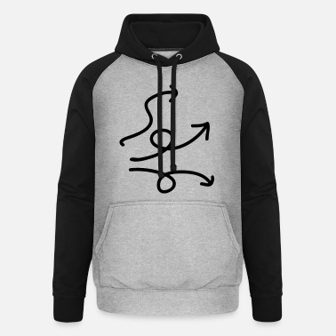 Messed Up Arrows - messed up - Unisex Baseball Hoodie