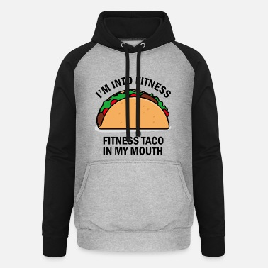 Funny Fitness Fitness Taco Funny - Unisex Baseball Hoodie